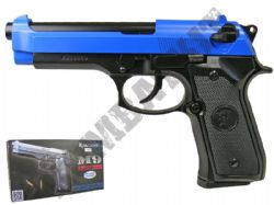 KJ Works M9 Full Metal Gas Blowback Airsoft BB Gun Black and Blue
